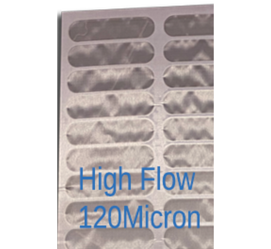 Screen zeefdoek voor trommelfilter 114.5x40cm Highflow 120 MICRON
