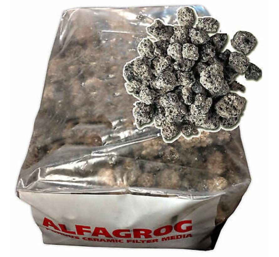 AlfaGrog is een poreus keramisch materiaal: sterk, slijtvast en relatief licht.