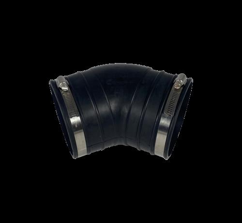 Flexibele rubber bocht (45°) 110mm