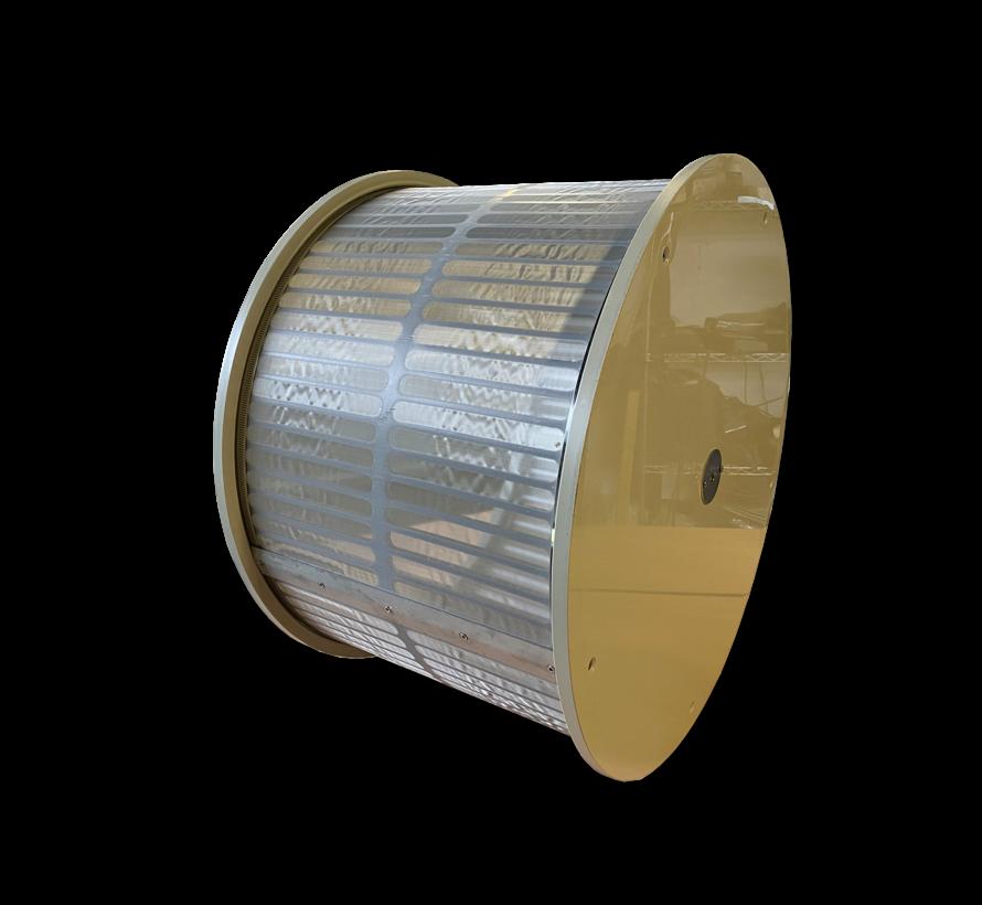 Losse trommel 50m3/uur met 70 micron doek standaard