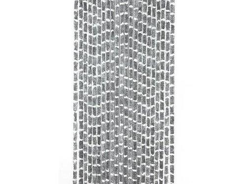 Arisol Arisol - Vliegengordijn - 'Kattenstaart' - 220x90 cm - Grijs/Wit