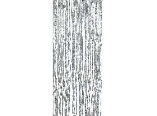 No Label Vliegengordijn - PVC - 220x90 cm - Transparant/Grijs/Blauw