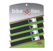 Arno Arno - Bagageriemen - Bike ties - 4 Stuks - Zwart