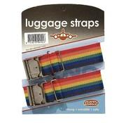 Arno Arno - Kofferriemen - Luggage straps - 2 Stuks - Zwart