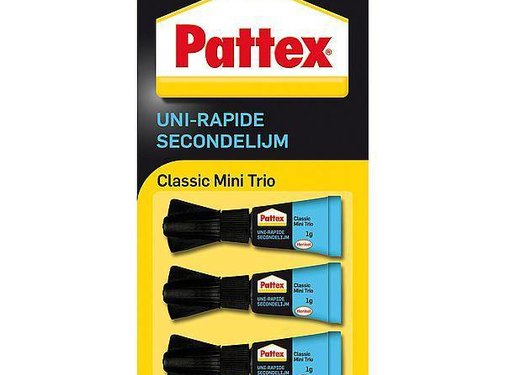 Pattex Pattex - Secondelijm - Classic - 3 Stuks - Transparant