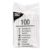 Papstar Papstar - Roerstaafjes - Plastic - 100 Stuks - Wit