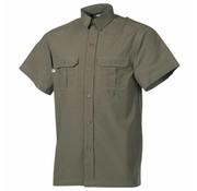 Fox Outdoor Outdoor overhemd korte mouwen olijf/legergroen microvezel 2 borstzakken