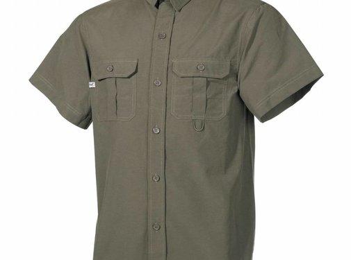 Fox Outdoor Outdoor Hemd, kurzarm, oliv, Microfaser, 2 Brusttaschen