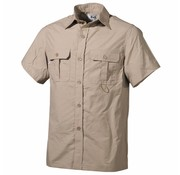 Fox Outdoor Outdoor Hemd, kurzarm, khaki, Microfaser, 2 Brusttaschen