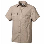 Fox Outdoor Outdoor overhemd korte mouwen khaki microvezel 2 borstzakken