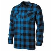 Fox Outdoor Holzfällerhemd, blau/schwarz, kariert