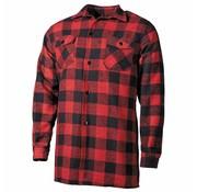Fox Outdoor Holzfällerhemd, rot/schwarz, kariert