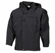 MFH Outdoor US Soft Shell Jacke, schwarz, GEN III, Level 5