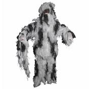 MFH Outdoor Camouflage pak 'Ghillie Suit' (Jas broek en hoed) sneeuwcamouflage