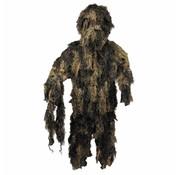 MFH Outdoor Camouflage pak 'Ghillie Suit' (Jas broek en hoed) woodland