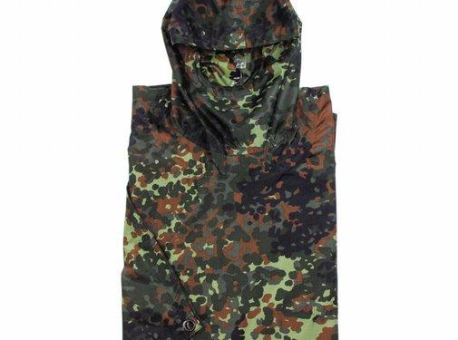 MFH Outdoor Army Poncho Rip Stop Mod. vlekcamouflage Afmetingen 144 x 223 cm