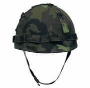 MFH Outdoor US Army helm, kunststof met hoes, M 95 CZ camouflage