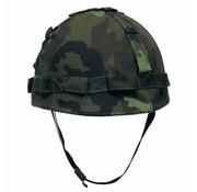 MFH US Army helm, kunststof met hoes, M 95 CZ camouflage