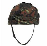 MFH Outdoor US Army helm kunststof met hoes, vlekcamouflage