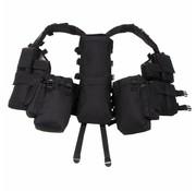 MFH Outdoor Tactical vest met diverse zakken zwart
