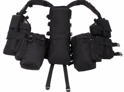 MFH Tactical vest met diverse zakken zwart