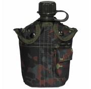 MFH Outdoor US Army kunststof veldfles, 1 liter, hoes, vlekcamouflage, BPA-vrij