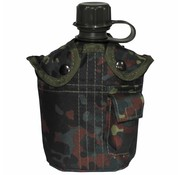 MFH US Army kunststof veldfles, 1 liter, hoes, vlekcamouflage, BPA-vrij