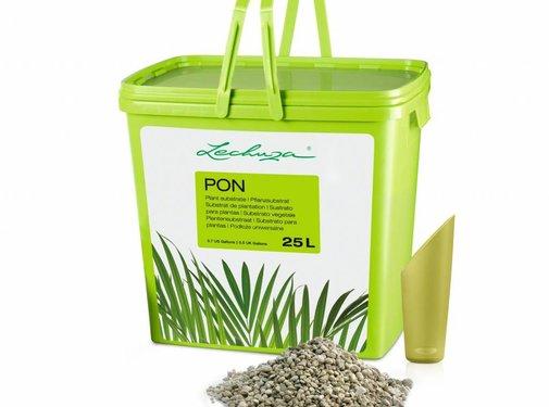 Lechuza Lechuza - LECHUZA-PON 25 liter - Hoogwaardig, mineraal plantensubstraat - is vervangen door PON in 3, 6, 12 en 18 liter verpakkingen