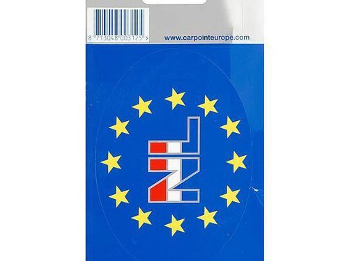 Carpoint Carpoint - NL sticker - 11,2x8 cm - Wit