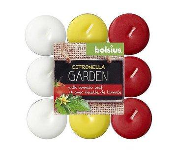 Bolsius Bolsius - Kaars - Theelichtjes - Citronella/Tomatenblad - 4 Branduren