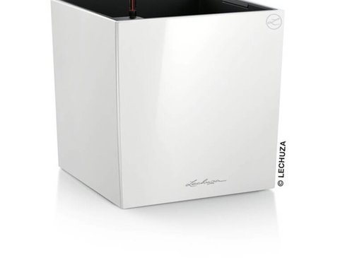Lechuza Lechuza- CUBE Premium 50 wit hoogglans ALL-IN-ONE