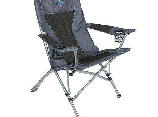Bo-Camp Bo-Camp - Vouwstoel - Deluxe comfort - Antraciet