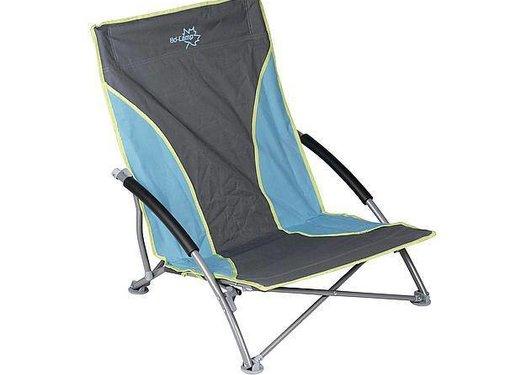 Bo-Camp Bo-Camp - Beach chair - Compact - Blauw/grijs