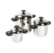 Bo-Camp Bo-Camp - Pannenset - Elegance Compact 3 - 3-Delig - RVS