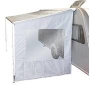 Bo-Camp Bo-Camp - Zijwand voor luifel - Universeel - 2,25 Meter - Licht grijs