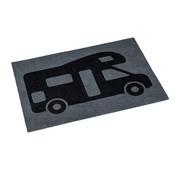 No Label Bodenmatte - Polyamid - 60x40 cm - Druck - Camper
