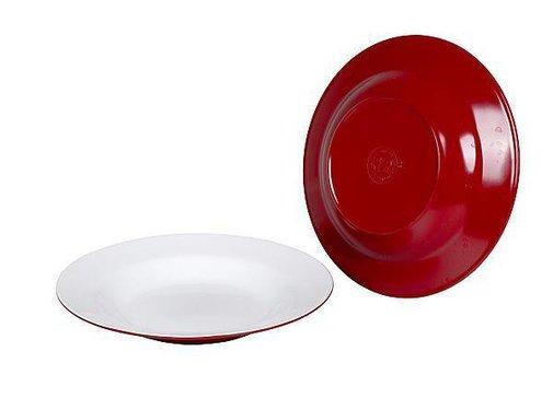 Bo-Camp Bo-Camp - Diep bord - 100% Melamine - Ø 21,5 cm - Two-Tone rood