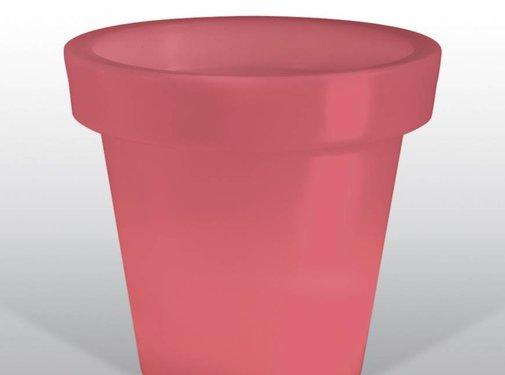 BLOOM! BLOOM POT LIGHT - bloempot met licht - rood - snoer - 44  x 40 cm (b x h)