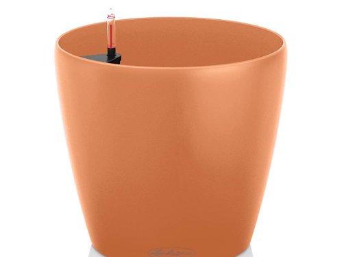 Lechuza Lechuza -  plantenbak CLASSICO COLOR 18 mango slush ALL-IN-ONE set - SPECIAL EDITION CORAL CRUSH -