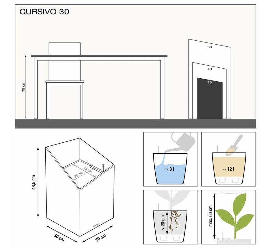 Lechuza- Cursivo Premium  30 Espresso metallic ALL-IN-ONE