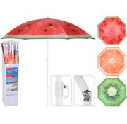 CampingMeister Parasol met print - Ø 155 cm - Assorti
