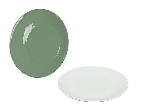 Bo-Camp Bo-Camp - Frühstücksteller - 100% Melamine - Ø 21,5 Cm - Two-tone Grün