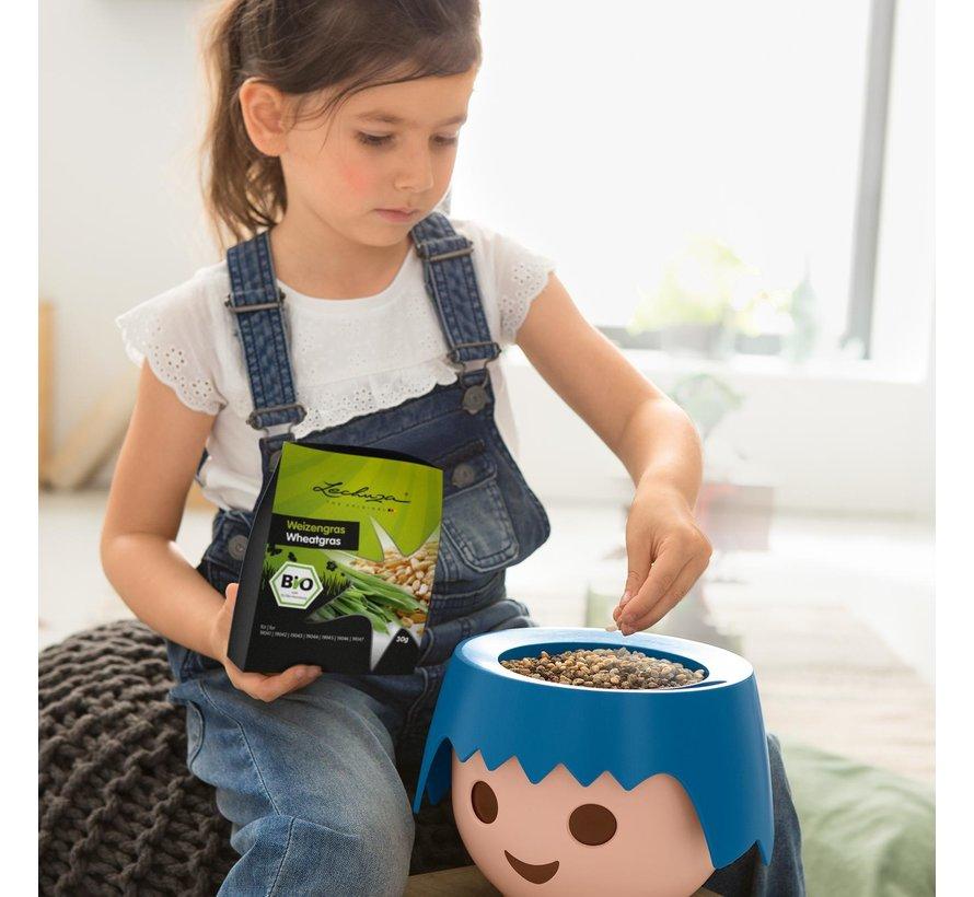 Lechuza - Playmobil - OJO - Plantset met organisch tarwegraszaad voor OJO educatieve bloempot