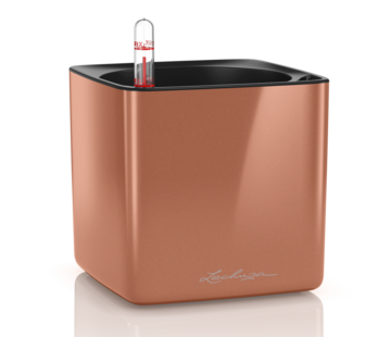 Lechuza Lechuza - CUBE GLOSSY 14 spicy copper hoogglans ALL-IN-ONE - WINTEREDITION -