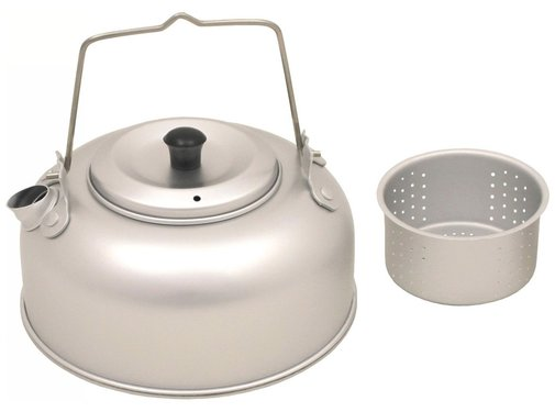 Fox Outdoor Fox Outdoor -Lichtgewichtoutdoor fluitketel met theezeef aluminium 0.95 liter
