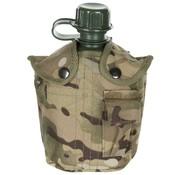 MFH US Army kunststof veldfles, 1 liter, hoes, Operation-camouflage, BPA-vrij