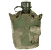 MFH US Army kunststof veldfles, 1 liter, hoes, HDT-camo FG, BPA-vrij