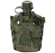 MFH US Army kunststof veldfles, 1 liter, hoes, woodland, BPA-vrij