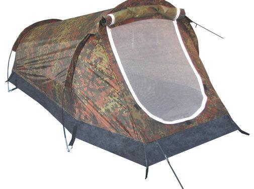 """MFH Outdoor MFH - Tunneltent  -  """"Schwarzenberg""""  -  Vlekken camouflage  -  1 persoons"""
