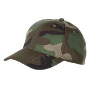 MFH Outdoor US Cap, mit Schild, woodland, größenverstellbar